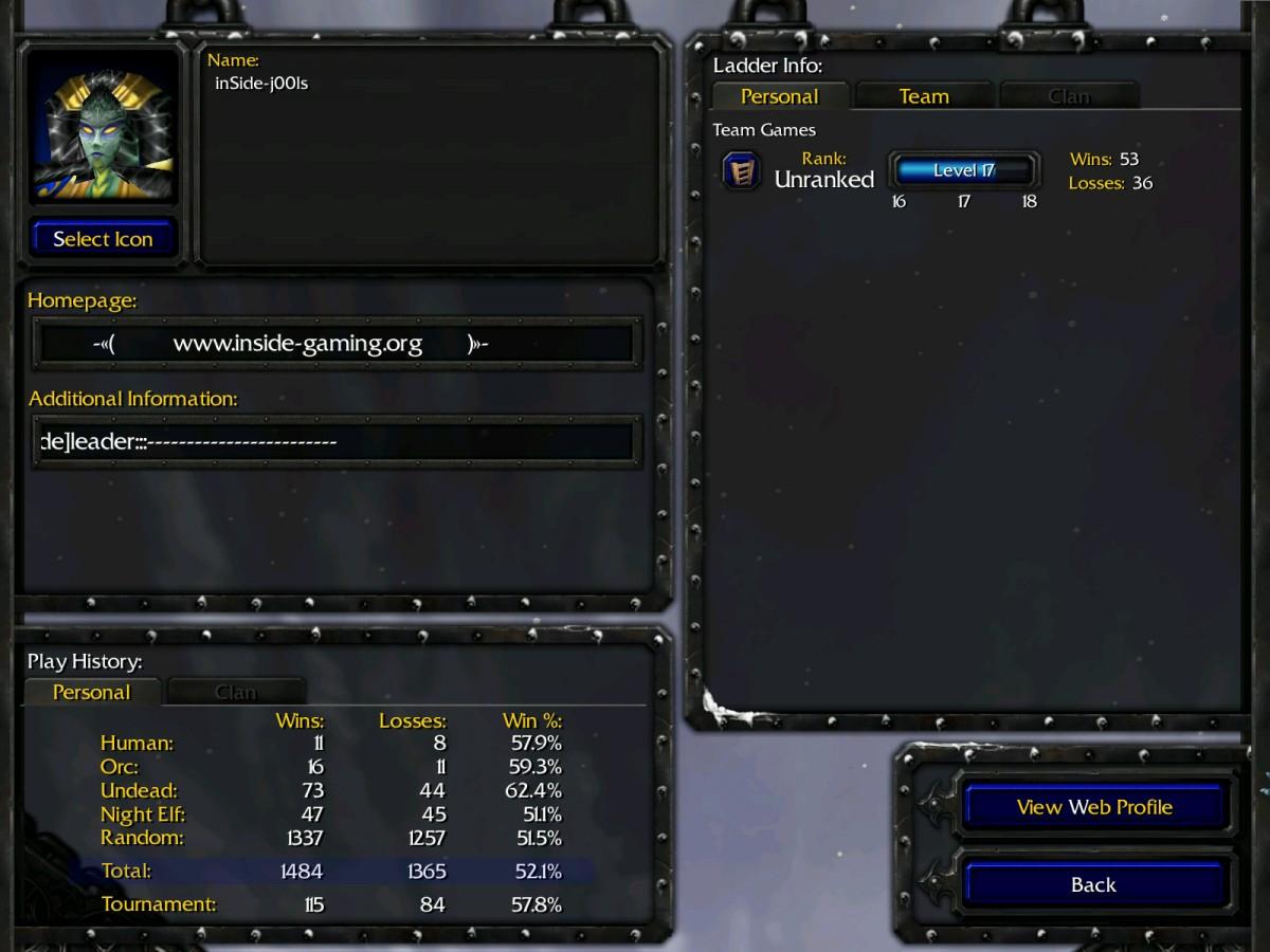 Warcraft 3 stats battle.net-EU