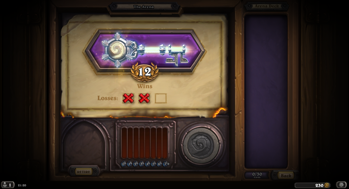 12-2 arena run with paladin