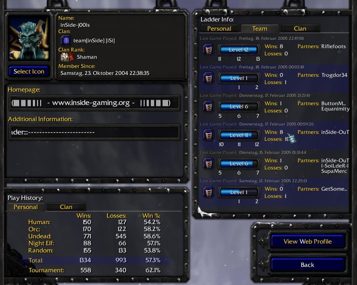 Warcraft 3 Account: inSide-j00ls