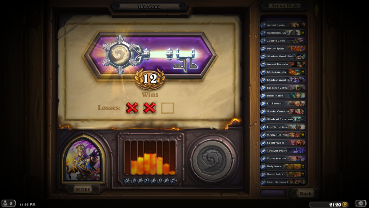 12-2 Priest Arena run