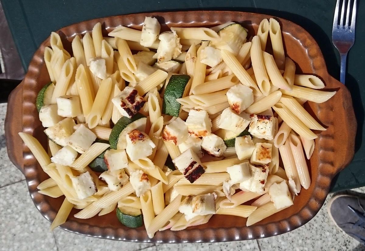 Zucchini & Halloumi vom Grill