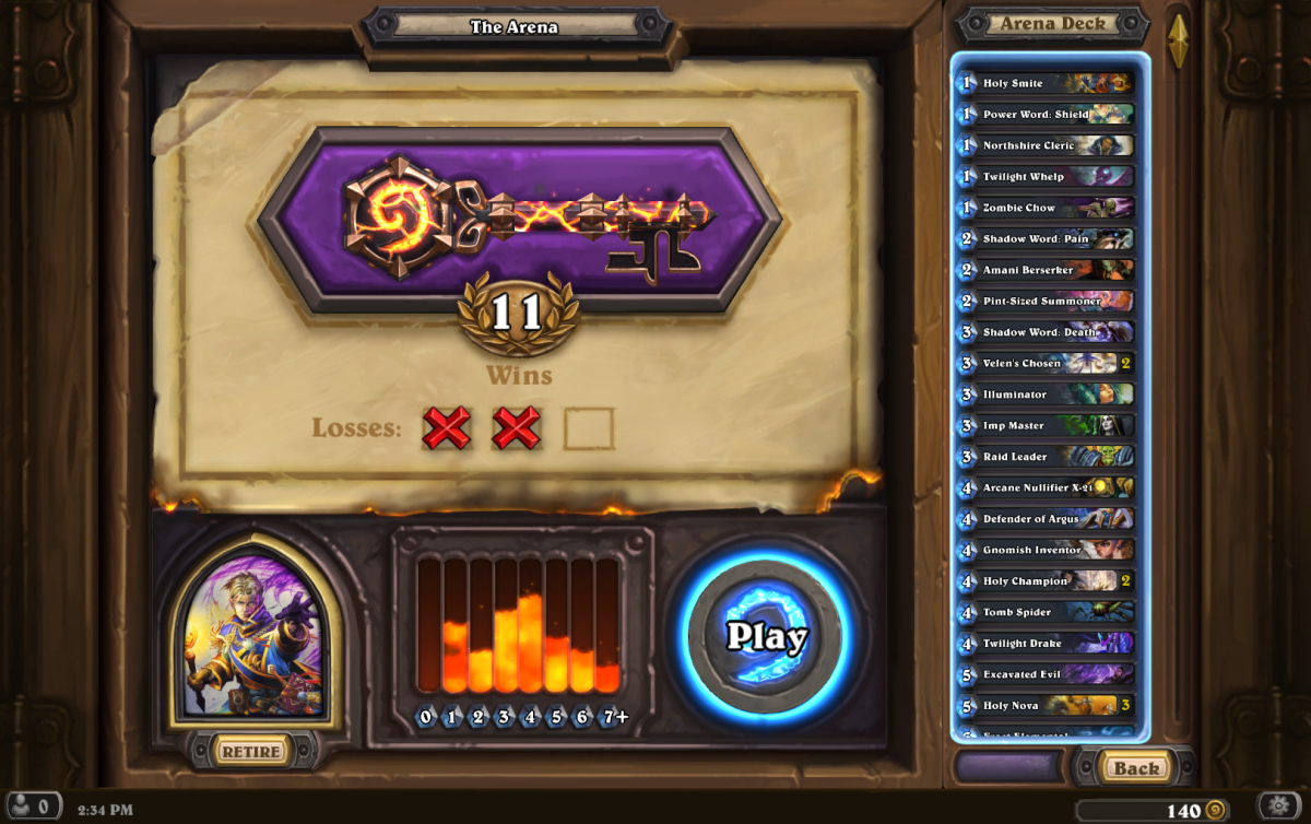 11 Wins Priest Arena run
